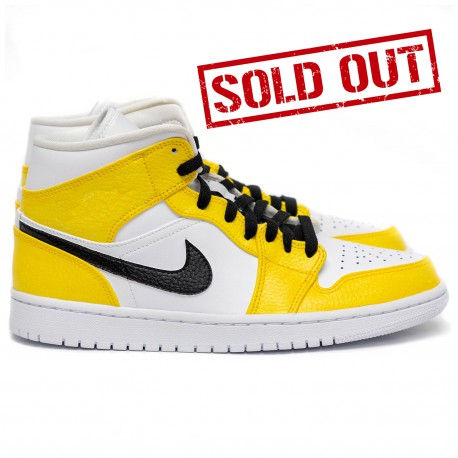 "Custom Air Jordan 1 Mid "" Black & Yellow """