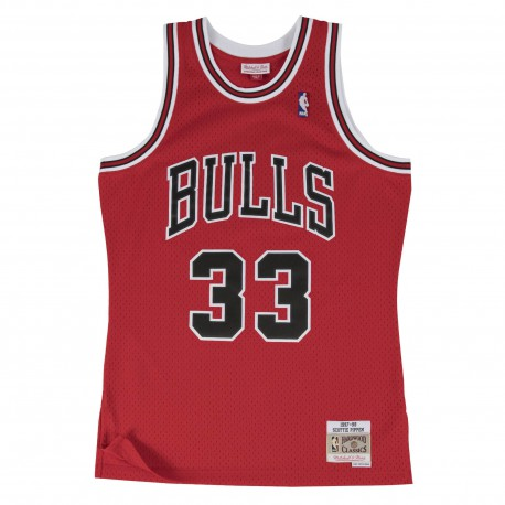 M&N Scottie Pippen NBA Chicago Bulls 1997-98 Swingman Jersey